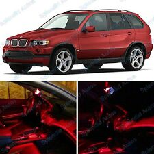 Brilliant Red Interior LED Package For BMW X5 E53  1999-2006 (17 Pieces) #448