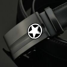 Luxury Genuine Leather Belts For Men Automatic Belt Buckle Designers Belts Black