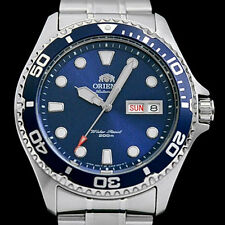 Orient Blue RAY II Automatic, Hand Wind, Hacks, Dive Watch #AA02005D, FAA02005D