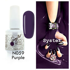 SYSTER 15ml Nail Art Soak Off Color UV Lamp Gel Polish N059 - Purple