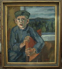 Gösta Granstroem 1908-1957, Portrait of a boys Man, dated 1938