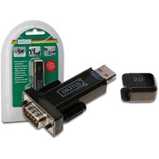 SERIAL ADAPTOR USB2.0 DSUB9 TO USB CONVERTER ADAPTER + KABEL CABLE WIN10 RS-232