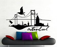 Istanbul Landscape Wall Decal Word Turkish City Vinyl Sticker Art Mural 274xx