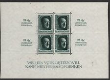 GERMANY STAMP #B106 SOUVENIR SHEET with INSCRIPTIONS & OVERPRINT  1937  MINT
