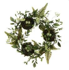 "Birds Nest Front DOOR WREATH 16"" Robins Eggs Easter Rustic New"