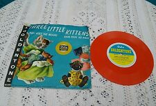 A 78rpm GALA GOLDENTONE RECORD GG 8, THREE LITTLE KITTENS, POP GOES THE WEASEL