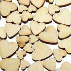 60PZ Cuore Forma di Legno Mix Mini Heart Shape Embellishments Craft Cardmaking