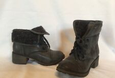 Roxy Bartlett Women's Size 6.5 Charcoal Gray Combat Motorcycle Ankle Boots