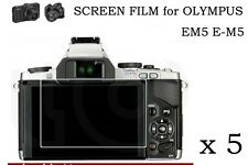 5 HD Ultra Clear LCD Screen Protector Film Skin For Olympus OM-D E-M5 OMD EM5