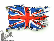 ill Gear UK UNION JACK Ripped Flag  Velcro Patch United Kingdom Tactical Morale