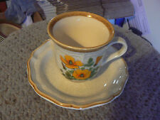 Mikasa cups and saucers (Petunias) 4 available