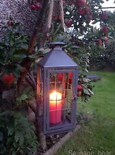 Metal Lantern Candle Holder Extra Large Vintage Shabby Chic Style~ Garden & Home