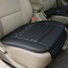 Black PU Leather&Bamboo Charcoal Car Truck Seat Breathable Pad Cushion Portable