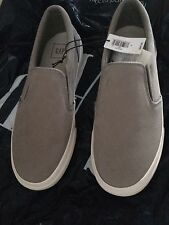 GAP SOLD OUT GRAY CASUAL LEATHER SLIP ON SNEAKERS SIZE 7