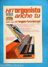 ALTOP971-PUBBLICITA'/ADVERTISING-1971- BONTEMPI - HIT ORGAN