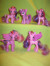 My Little Pony G4 Brushable FiM PRINCESS TWILIGHT SPARKLE 5 Different FIGURE LOT