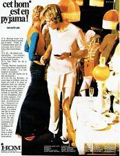 PUBLICITE ADVERTISING  017  1971  Hom pyjama sous vetements homme