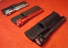 "NEW MINI MAGLITE M2A09H SILVER BLACK RED FLASHLIGHT 2 AA MAG-LITE 5.75"" BRIGHT!"