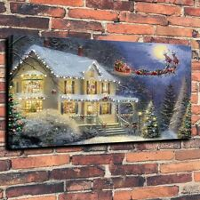 Landscape Art Canvas Prints The Night Before Christmas Home Decor 16X24 Unframed