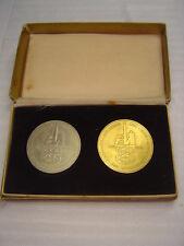 2 Medaillen 800 Jahre Industrie- und Bergarbeiterstadt Aue im Etui