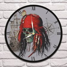 Jack Sparrow Color design vinyl record wall clock home art shop office move 1