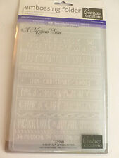 Used Once - Couture Creations - Embossing Folder - Christmas - A Magical Time -