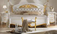 Eleganz Luxus  Schlafzimmer-Set  La Fenice Beige-Gold Italienische Klassik-Stil