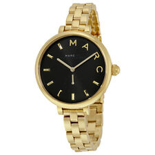 Marc By Marc Jacobs Sally Black Dial Gold-tone Stainless Steel Ladies Watch