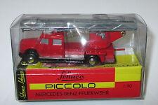 """Schuco Piccolo 01451 Mercedes Benz L6600 Drehleiter """"Feuerwehr""""  Neu/OVP"""