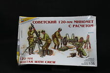 XV103 ZVEZDA 1/35 maquette figurine 3503 120 mm Mortar with Crew