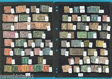 #T51. THIRTEEN PAGES OF FRENCH STAMPS IN OLD CLUB STOCK BOOK