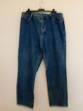 LADIES ORIGINAL 1980S VINTAGE JEANS BY SQV SIZE 18 WAIST 31 LEG BLUE DENIM