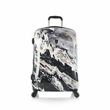 "Heys Luggage 26"" Suitcase Fashion Hardcase Spinner Nero Marble Stone Print"