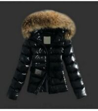 Monclear Women's Hot Jacket Coat With Fur Hood - Wax Quilted Effect Size 10-12