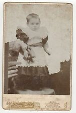VINTAGE CABINET PHOTO Photograph STOCKPORT ENGLAND Manchester LEEDS Baby CHILD