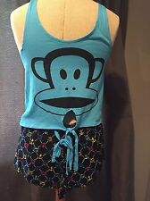 "NEW WITH TAGS PAUL FRANK GIRLS ""ROCK THE BOAT"" GIRLS SHORTIE PAJAMAS"