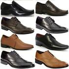 MENS LEATHER ITALIAN DESIGNER OFFICE WEDDING FORMAL SUIT BLACK SMART SHOE SIZE