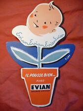 ancienne publicité bébé Evian pub carton source eau minérale
