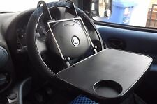 IN CAR VAN MULTI PURPOSE BACK SEAT TRAVEL TRAY TABLE CUP WHEEL HOLDER LAPTOP AC0