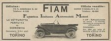 Z0689 FIAM la vetturetta perfetta ed economica - Pubblicità del 1925 - Advertis.