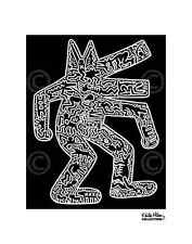 POP ART PRINT - Dog, 1985 by Keith Haring 11x14 Dancing Animal Poster