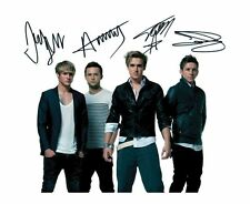 MCFLY SIGNED AUTOGRAPHED A4 PP PHOTO POSTER