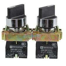 2Pcs 10A 2 Position NO NC Maintained 4 Terminal Rotary Selector Switch XB2-BD21C