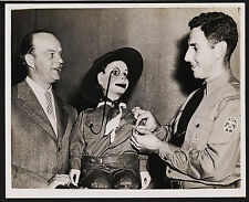 Ventriloquist Edgar Bergren & Charlie McCarthy Receiving Medal from Scoutmaster