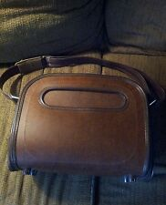 Vintage Samsonite Silhouette Travel Bureau. Dark Brown Leather.
