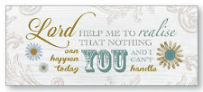 LORD HELP ME TO REALISE WOODEN PRAYER PLAQUE OTHER INSPIRATIONAL ITEMS LISTED