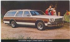 Buick Estate Wagon original USA issued Postcards 1979