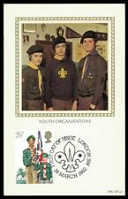 GB UK MK 1982 PFADFINDER BOY SCOUTS MAXIMUMKARTE CARTE MAXIMUM CARD MC CM bb03