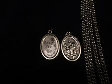 Catholic Our Lady of Knock Ireland Holy Medal  on stainless unending chain