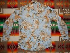vtg Chemise Et Cie Vargas Floral Collage Play Boy Pin Up Girls Shirt Size M/L